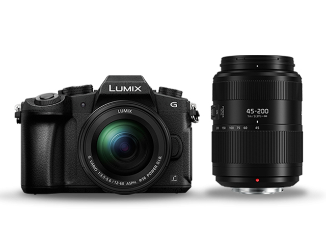 Panasonic Lumix DMC-G80W Lumix G VARIO 12-60 mm и 45-200 mm