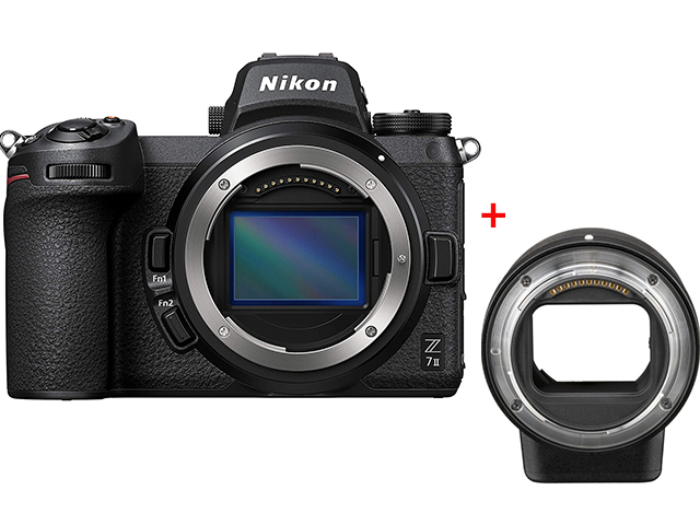 Nikon Z 7II body и адаптер FTZ, 45.7MP, Full-frame, 4K 60p video ,CFexpress Type B, SD UHS-II
