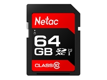 Карта памет Netac SD Card 64GB SDHC/SDXC до 80MB/s 533x Class10,Ultra High Speed UHS-I