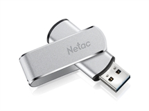 Флаш памет Netac 64GB, USB 3.1, U388, Ultra-High-Speed, Read Speed  410MB/s- Write Speed  220MB/s  метално тяло